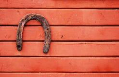 Vecchio ferro di cavallo fortunato Immagini Stock Libere da Diritti