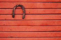 Vecchio ferro di cavallo fortunato Immagine Stock