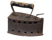 Vecchio ferro isolato Fotografia Stock