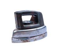 Vecchio ferro isolato su priorità bassa bianca Immagini Stock