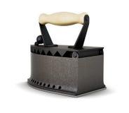 Vecchio ferro isolato su un fondo bianco 3d rendono i cilindri di image Fotografia Stock Libera da Diritti