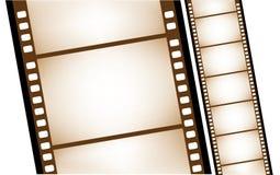 Vecchio filmstrip isolato nel vettore Fotografia Stock Libera da Diritti