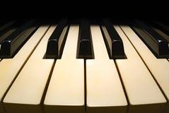 Vecchio fisheye della tastiera di piano Fotografie Stock Libere da Diritti