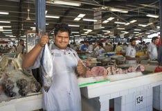 Vecchio fishmarket del Dubai in Deira fotografia stock