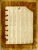 Vecchio foglio del taccuino allegato royalty illustrazione gratis