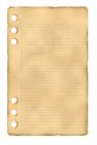 Vecchio foglio di carta Immagini Stock