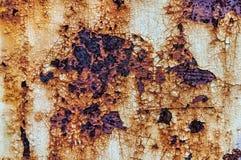 Vecchio fondo arancio astratto arrugginito Fotografia Stock