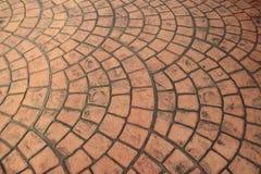 Vecchio fondo arancio del modello del pavimento del mattone fotografia stock libera da diritti