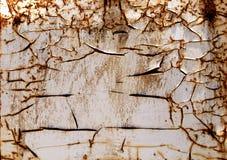 Vecchio fondo arrugginito bianco del ferro fotografie stock libere da diritti