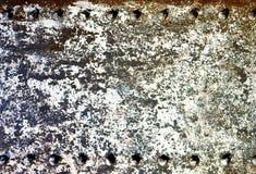 Vecchio fondo arrugginito del metallo Fotografia Stock