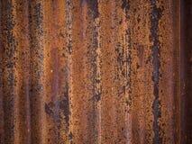 Vecchio fondo arrugginito della lastra di zinco fotografia stock