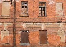 Vecchio fondo arrugginito della parete Immagini Stock Libere da Diritti
