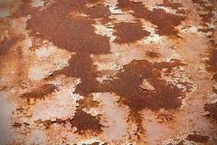 Vecchio fondo arrugginito di lerciume della parete dello zinco Fotografie Stock Libere da Diritti