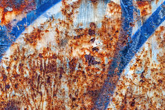 Vecchio fondo astratto arancio e blu arrugginito Fotografia Stock