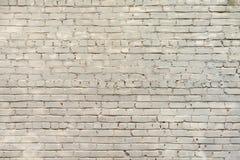 Vecchio fondo bianco del muro di mattoni Immagine Stock Libera da Diritti