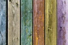 Vecchio fondo colorato dei bordi di legno Fotografie Stock