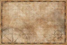 Vecchio fondo d'annata della mappa illustrazione vettoriale