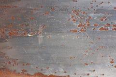 Vecchio fondo del metall di struttura arrugginita del metall Fotografia Stock