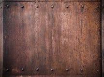 Vecchio fondo del metallo fotografia stock libera da diritti