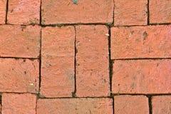 Vecchio fondo del modello del pavimento del mattone rosso, backgroun rosso del muro di mattoni Fotografia Stock Libera da Diritti