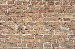 Vecchio fondo del muro di mattoni Immagini Stock Libere da Diritti