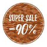 Vecchio fondo del muro di mattoni con la scenetta Struttura del muro di mattoni di vettore con la vendita eccellente 90 fuori royalty illustrazione gratis