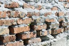 Vecchio fondo del primo piano di struttura del muro di mattoni Immagine Stock