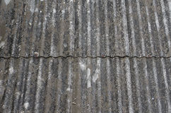 Vecchio fondo del tetto della ruggine, fondo d'annata immagini stock
