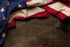 Vecchio fondo della bandiera americana Fotografie Stock