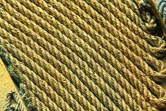 Vecchio fondo della corda Fotografie Stock