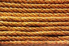 Vecchio fondo della corda Immagine Stock