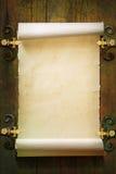Vecchio fondo di carta del rotolo Immagini Stock
