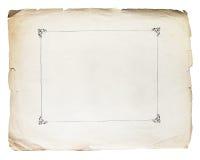 Vecchio fondo di carta di struttura d'annata Fotografie Stock Libere da Diritti