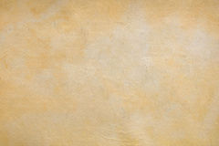 Vecchio fondo di carta giallo Fotografia Stock