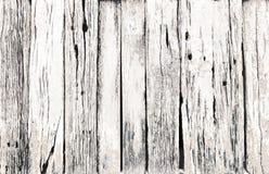 Vecchio fondo di legno bianco d'annata Fotografia Stock