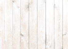 Vecchio fondo di legno bianco d'annata delle plance Fotografia Stock Libera da Diritti