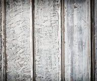 Vecchio fondo di legno bianco della plancia Fotografie Stock Libere da Diritti