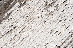 Vecchio fondo di legno bianco di struttura Immagini Stock