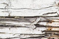 Vecchio fondo di legno bianco screpolato fotografia stock libera da diritti