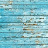 Vecchio fondo di legno blu della plancia. Immagini Stock