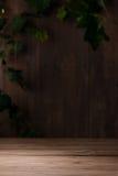 Vecchio fondo di legno d'annata della stanza Immagine Stock