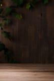 Vecchio fondo di legno d'annata della stanza Fotografia Stock