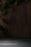 Vecchio fondo di legno d'annata della stanza fotografia stock libera da diritti