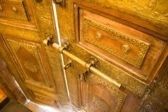 Vecchio fondo di legno dell'annata della porta Fotografie Stock