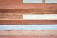 Vecchio fondo di legno della parete della plancia fotografia stock libera da diritti