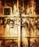 Vecchio fondo di legno della porta Immagini Stock
