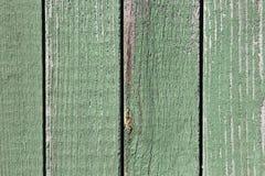 Vecchio fondo di legno di struttura di verde della plancia Immagini Stock