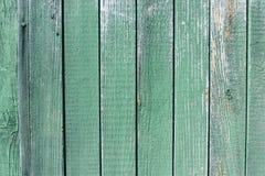 Vecchio fondo di legno di struttura di verde della plancia Fotografia Stock