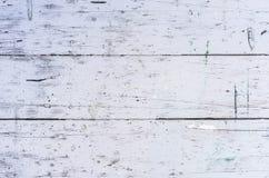 Vecchio fondo di legno graffiato della tavola della cucina bianca fotografia stock