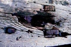 Vecchio fondo di legno grigio di struttura Fotografia Stock Libera da Diritti
